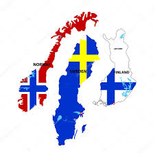 Map Of Norway Isolated Maps Of Norway Sweden And Finland U2014 Stock Vector