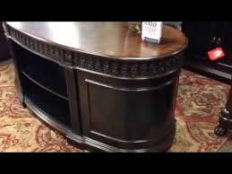 coaster oval shaped executive desk 72 rowan executive two tone brown office desk coaster furniture