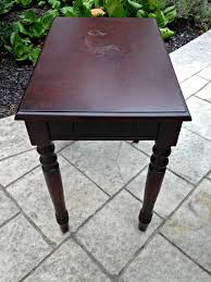 Inexpensive Side Tables Upcycle A Side Table With Inexpensive Chalk Paint Restoration Writer
