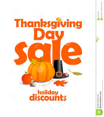 thanksgiving day sale design stock vector image 34508546