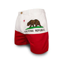 California Flag Bear The Goldens Chubbies California State Flag Shorts