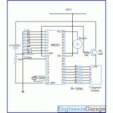 8051 microcontroller based quiz buzzer project with circuit and c