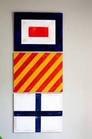 Vintage Flag Art Painted Nautical Signal Flags For Boys Room Decor U2022 Whipperberry
