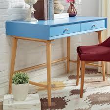 Mid Century Desk Homesullivan Wyatt Mid Century Blue Writing Desk 40e333 15bu The