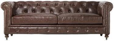 Tufted Leather Sofas Gordon Tufted Leather Leather Sofa 32hx91x38d Brown Leather