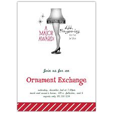 leg l ornament exchange invitations paperstyle