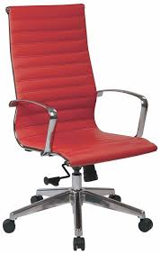 Tan Leather Office Chair Office Star High Back Red Leather Office Chair 73029lt