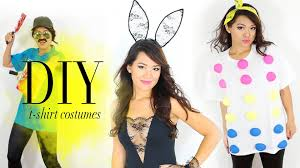 diy hack t shirts into halloween costumes easy ann le youtube