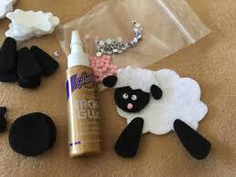 sheep diy craft kit felt lamb kit bible craft spring easter diy