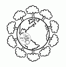 green earth earth day coloring page for kids coloring pages