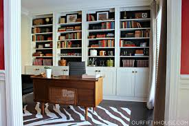 Furniture Desk Home Office Designs The Fashionable Cream Built In - Built in home office designs
