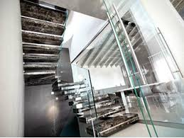 Hanging Stairs Design Sospesia Marble Cantilevered Staircase By Officine Sandrini