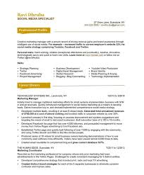 social media specialist resume samples u0026 examples