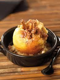 cuisine au four pommes au four au beurre salé biscuits et cannelle les fruits et