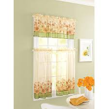 Sunflower Valance Curtains Better Homes And Gardens Sunflower Tier Curtain And Valance Set