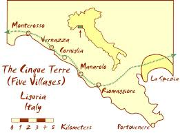 Where Is Monaco Located On A Map Cinque Terre Map And Free Travel Guide To The Five Villages
