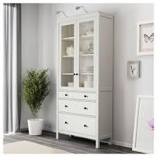 ikea hemnes glass door cabinet hemnes glass door cabinet with 3 drawers white stain 90x197 cm ikea