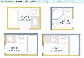 bathroom design layouts the 5 by 5 layout makes the most sense for the garage