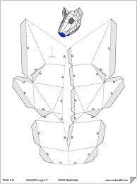 template diy paper rat mask papercraft template printable mask diy digital