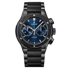 hublot ceramic bracelet images Hublot classic fusion ceramic blue bracelet watch 520 cm 7170 cm rox jpg