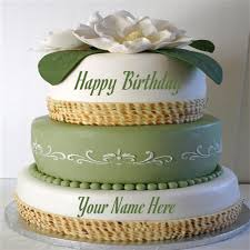 layered cool black forest birthday cake with your name