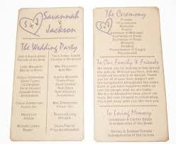 rustic wedding programs wedding programs rustic fall wedding outdoor garden wedding