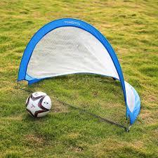 2 sets portable children mini football goal nets post kids soccer