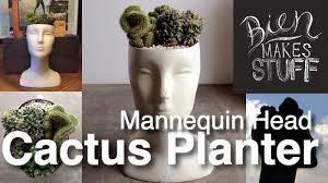 Face Planter Mannequin Head Cactus Planter Youtube