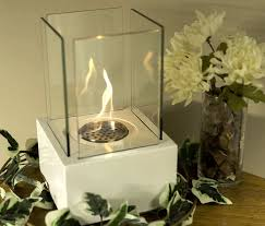 Portable Indoor Outdoor Fireplace by White Portable Indoor Outdoor Patio Bio Ethanol Tabletop Fire Bowl