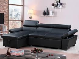 lolet canapé canapé d angle convertible et réversible aldo 4 places noir