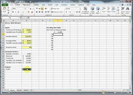 How To Make A One Way Data Table In Excel Youtube