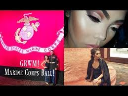 yourube marine corp hair ut grwm marine corps ball 2017 makeup youtube channel