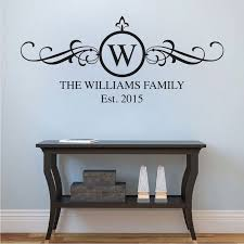 family surname wall decal applique trendy wall designs
