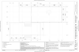house plans with dimensions farnsworth house plan dwg section elevation dimensions floor