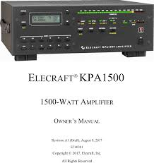 kpa1500 amateur radio external linear amplifier user manual kpa500