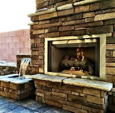 outdoor fireplace water feature combination yelp