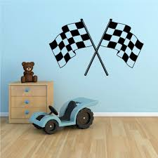 Wall Decal For Living Room Aliexpress Com Buy Checker Flag Vinyl Wall Decal Checkered Flag