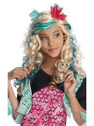 Halloween Monster Costumes Licensed Child Lagoona Blue Wig Fancy Dress Monster Halloween