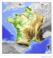 Map Of France With Major Cities by 3d Relief Map Of France Illustration