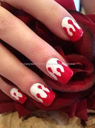 red and white blood halloween freehand nail art u003c3 u003c3 nails