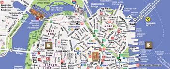 boston city map boston map by vandam boston streetsmart map city maps