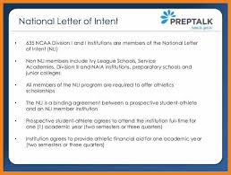College National Letter Of Intent Ncaa Letter Of Intent Teller Resume Sle