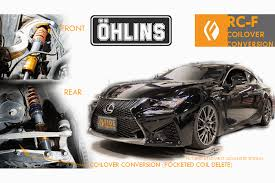 lexus rcf logo ohlins road and track coilovers rc f specific coilover conversion