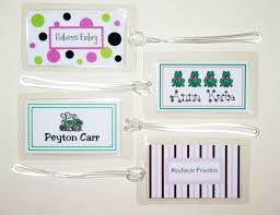 Business Card Luggage Tags Laminated Untitled