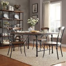 Industrial Dining Room by 5 Piece Merida Rustic Industrial Dining Set Distressed Ash