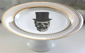halloween cupcake stands gold or silver top hat skull wedding cake stand skull cake