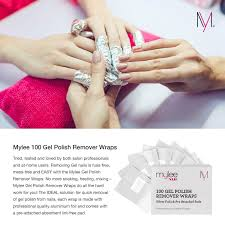 mylee 100pcs salon professional remover foil wraps removes gel