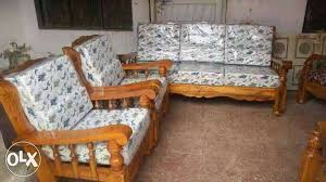 New Luxurious Mysore Teakwood Sofa Set Bengaluru Furniture - Teak wood sofa sets