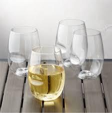 govino shatterproof plastic stemless wine glasses set of 4
