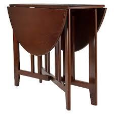 Narrow Drop Leaf Table Alamo 42 Drop Leaf Table Wood Walnut Winsome Target